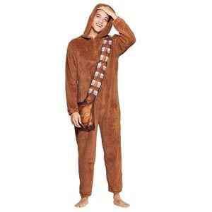 NEW Men's Star Wars Chewbacca Union Pajama Costume